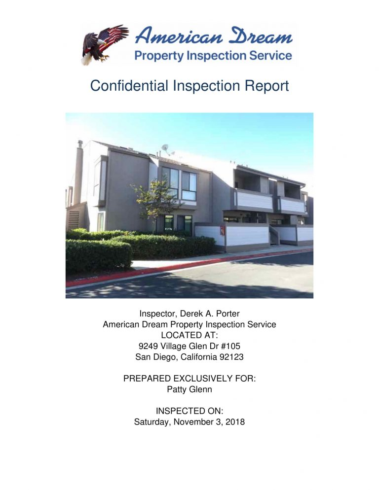 9249 Village Glen Dr 105 01 768x994 - Residential Condo Townhome Sample Inspection Reports